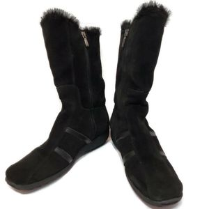 Aquatalia by Marvin K Womens 7.5 Boots Fur Lined